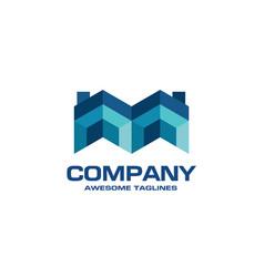 creative real estate logo vector image vector image