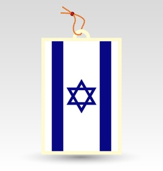israeli made in tag vector image vector image