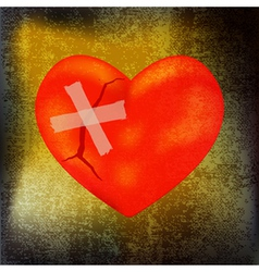 mended heart vector image vector image