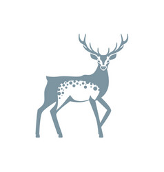silhouette graphics of a deer with antlers vector image vector image