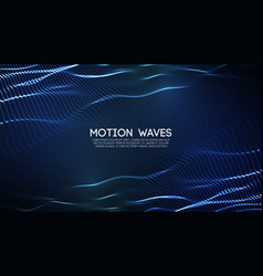 3d glowing abstract digital wave particles vector