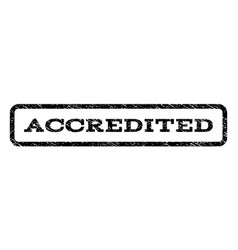 accredited watermark stamp vector image vector image