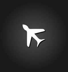 aircraft icon flat vector image
