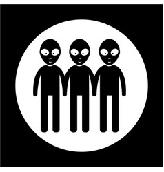 alien icon vector image