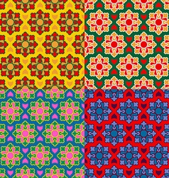 arabic texture set Ramadan seamless pattern vector image