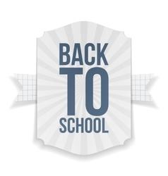 Back to School paper Banner vector