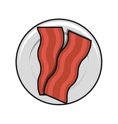 Bacon Fried in dish vector