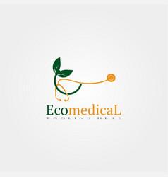 Bio medical icon template creative logo design vector