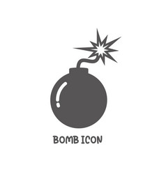 bomb icon simple flat style vector image