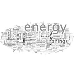 Build a storehouse energy and resiliency vector