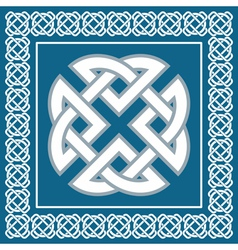 Celtic knotsymbol represents four Earth elements vector