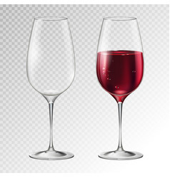 champagne or wine glass vector image
