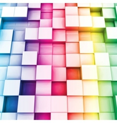 Colorful cubes background vector