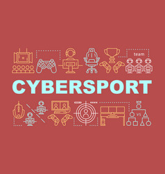 Cybersport word concepts banner vector