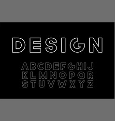 designer minimalistic font trendy english vector image