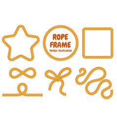 different frame ropes vector image