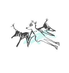 doodle sketch drawing stupid bat vector image