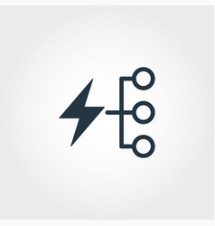 Energy consumption creative icon monochrome style vector
