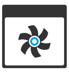 Fan Calendar Page Toolbar Icon vector