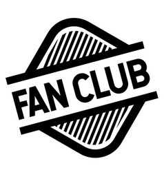 Fan club stamp on white vector