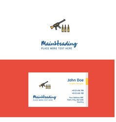 flat guns logo and visiting card template vector image