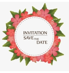 floral invitation save the date vector image