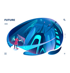 futuristic template for smartphone application vector image