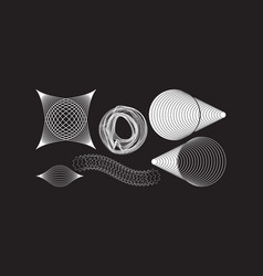 Geometric shapes collection for design vector