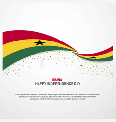 Ghana happy independence day background vector
