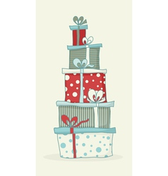 Gift box tower vector