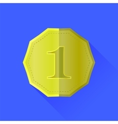 Gold Medal Icon vector image