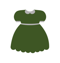 Green dress icon vector