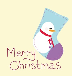 Greeting card with Christmas vector