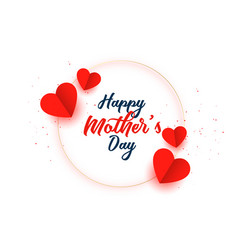 Happy mothers day hearts celebration card design vector