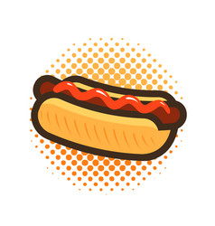 Hot dog fast food takeaway logo or icon vector