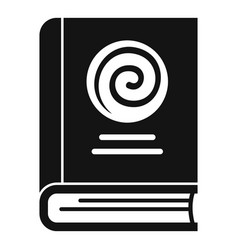 Hypnosis book icon simple style vector