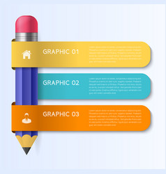 Infographic design template with pencil concept vector