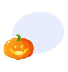 Laughing grinning pumpkin jack-o-lantern vector