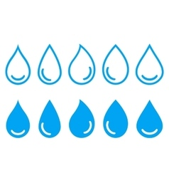 Linear set water drops vector