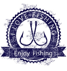 Love fishing vector image