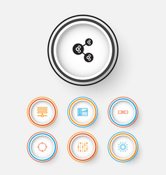 Machine icons set collection of lightness mode vector