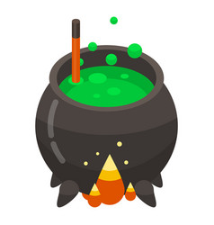 magic cauldron icon isometric style vector image
