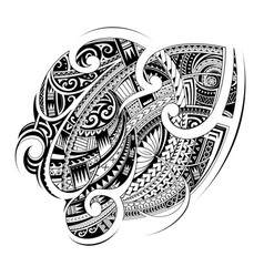 maori style tribal tattoo shape vector image