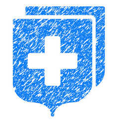 Medical shields grunge icon vector