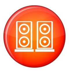 Music speakers icon flat style vector image