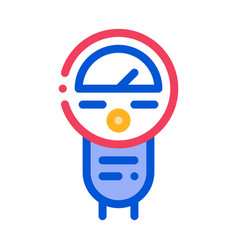 parking meter icon outline vector image