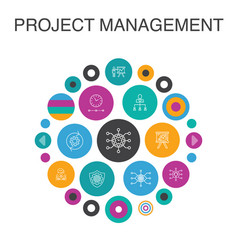 Project management infographic circle concept vector