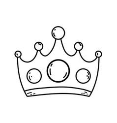 Queen crown cartoon vector