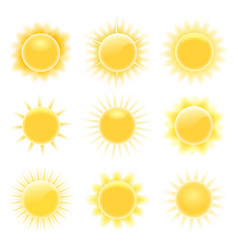 realistic heating suns vector image