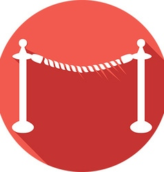 Rope Barrier Icon vector